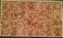 Bodenbelag Marmor-Imitation, rostbraun