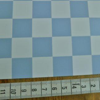Boden-/Wandbelag (Fliesen, weiss/blau). 24 cm x 12,5 cm.