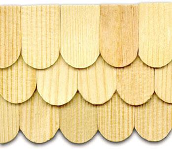 1000 (ca.) Holz-Schindeln/-Ziegel. Holz hell, rau.