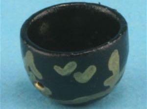 Asiatische Teetasse. Metall handbemalt.
