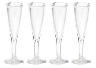 4 Champagnerflöten. Kunststoff.