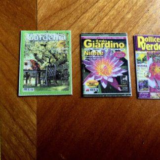 3 italienische Gartenzeitschriften. Attrappen.