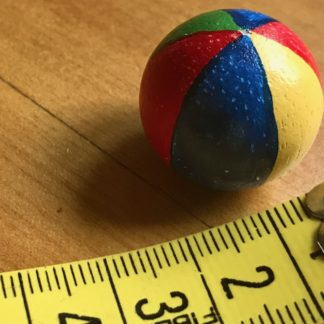 Spielball gross. Holz handbemalt. England.